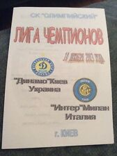 Dynamo Kiev v Inter Milan 2003 Champions League 4 Page Pirate Programme