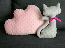 Pink Cloud Shape Cushion Pillow Nursery Kids Bedroom Grey Stars Gift Children
