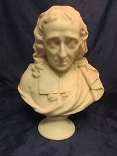 RARE 19th C Antique Parian Ware Bust Sculpture JOHN MILTON English Poet 13""