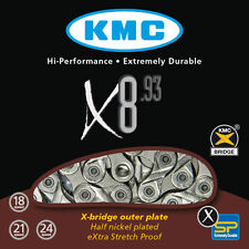 "KMC X8.93 21 / 24 SPEED 1/2"" X 3/32"" MTB ROAD BICYCLE CHAIN 116L fits 3x7 3x8"