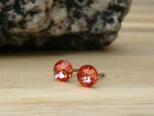 Genuine Austrian Crystal Surgical Stainless Steel Studs 4.8mm ~ Padparadscha