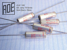 47uF -16V ROE / EB-Series Silver 1973 product Audio Grade !! x 45 PIECES