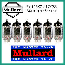 New 6x Mullard 12AX7 / ECC83 | Matched Sextet / Six Tubes