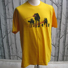 Star Wars Hoth Attack AT-AT T Shirt Yellow + Metallic Laser Men's Size L Large