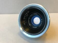 kmz jupiter 12 2.8/35  for m39 fed,zorki,leica Biogon copy Silver Red P 1957
