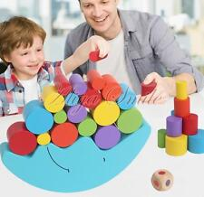 1Set Balance Moon Wooden Block Puzzle Game Toy For Baby Kid Educational Learning