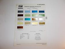 1973 CHRYSLER RINSHED-MASON PAINT CHIP SAMPLES  IMPERIAL