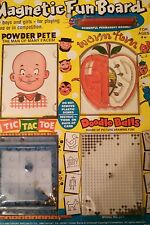 Vintage 1978 Magnetic Fun Board with Powder Pete
