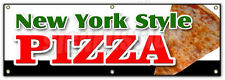 "72"" NEW YORK STYLE PIZZA BANNER SIGN by the slice take out carry pizzeria"