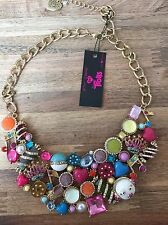 NEW! Macy's Exclusive BeTsy JOHNSON XOX TROLLS Rhinestone Statement Necklace