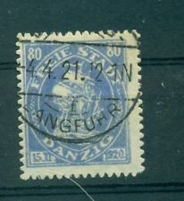 "FREE CITY OF DANZIG - GERMANY 1921 ""Cog"" 80 Pf"