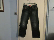 SUPERDRY JEANS SIZE 10 NEW BLUE STRAIGHT LEG LIGHTLY FADED DISTRESSED WAIST 30""