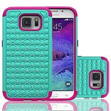 For Samsung Galaxy S7 Shockproof Hybrid Hard Diamond Bling Case Skin Phone Cover