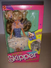 Vintage 1988 Mattel, Style Magic Skipper Doll Style Magique #1915, Barbie, NRFB!