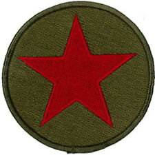 """RED STAR EMBROIDERED PATCH  7CM Dia (2-3/4"""" Dia)"""