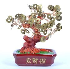 "New 7"" Feng Shui Coins Money Tree Lucky Money Bonsai My-3996"