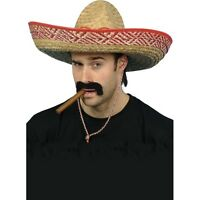 Straw Sombrero Hat Fancy Dress Mexican Spanish Western Cowboy Extra Large Unisex