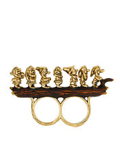 "R110 BETSEY JOHNSON ""SNOW WHITE Medieval Collection The Seven Dwarfs Ring US"