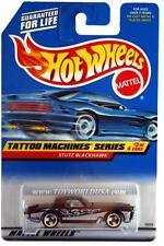 1998 Hot Wheels #687 Tattoo Machine Series #3 Stutz Blackhawk (blue car card)