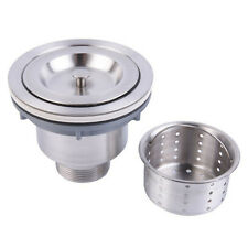 Fashion Stainless Steel Kitchen Sink Drain Assembly Waste Strainer and Basket