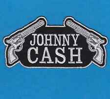 Johnny Cash Sew Iron On Patch Singer Songwriter Music Logo Embroidered Shirt Cap