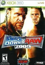 WWE SmackDown vs. Raw 2009 Featuring ECW (Microsoft Xbox 360, 2008) VERY GOOD
