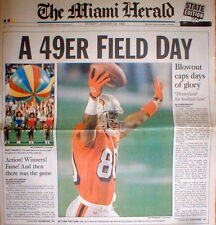1995 newspaper SAN FRANCISCO 49ers WIN 5th Football SUPER BOWL Steve Young stars