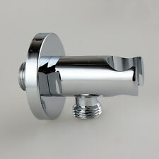 "Brass G1/2"" Shower Wall Outlet Handheld Shower Head Holder Elbow Hose Connector"