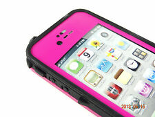 WATERPROOF SHOCKPROOF DIRTPROOF CASE FOR APPLE iPHONE 4 4S - HOT PINK W/ BLACK