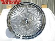 "22"" Dayton Style REAR Wheel Drive 150 Spoke Chrome STD lace Wire wheels Set (4)"