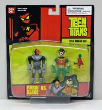 Teen Titans 3.5 Inch 2 Figures Robin Slade Short Red Card BanDai NIP 2004 S163-2