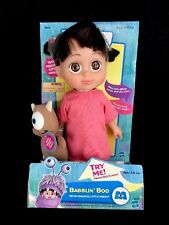 2001 Disney Pixar Monsters Inc. Babblin Boo Talking Doll Plush Little Mikey 12""