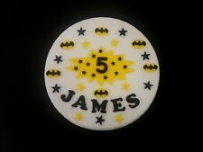 Batman logos cake decorations name, superhero age sign stars, superhero style