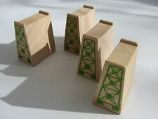 4 Wooden Track Supports for Wooden Train Track Set Brio  Thomas Friends ELC