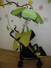 New Pram Stroller Umbrella Parasol Green Shade Rain Winter Summer Protection