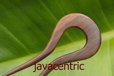 Handmade wooden HAIR PIN PICK FORK natural Sono Wood great GRIP so comfortable!