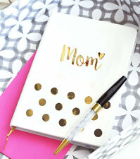 White Gold MOM Journal Mother's Day Birthday Holiday New Mom Gift Q47112