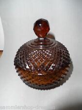 19051 Dose Deckeldose Döschen braun brown Steinel Preßglas dish Salzdose