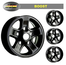 "7""x16"" Land Rover Defender Black BOOST style Alloy Wheels Set of 4"