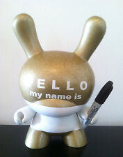 "DUNNY 8"" HUCK GEE HMNI GOLD CUSTOM 3/10 *SIGNED/NUMBERED* KIDROBOT VINYL FIGURE"