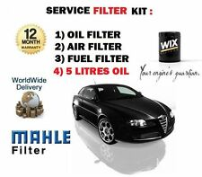 FOR ALFA ROMEO GT 1.9 JTD 2004-  SERVICE KIT OIL AIR FUEL FILTER SET + 5 LTR OIL