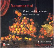 SAMMARTINI Organ Concertos LA RISONANZA Fabio BONIZZONI CD GLOSSA Orgelkonzerte