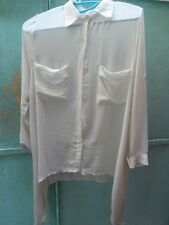 White Sheer Blouse with Irregular Hems H&M Zara Forever 21