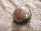 Beautiful Signed Abelman Art Glass Paperweight 1G3-133 1981