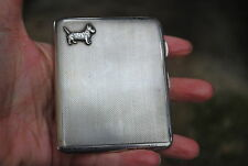 Solid silver scotty dog art deco  cigarette/ card case slimline type