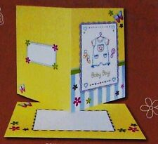 NEW ANCHOR KIT BABY BOY CARD/ENVELOPE STAMPED FOR EMBROIDERY -Comb. Ship. Offer.