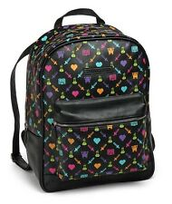 The Cache Backpack by Pixelle (Black) Pixel Art Gamer - Brand New
