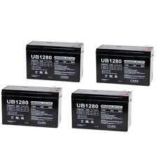 UPG 4 Pack - 12V 8Ah Replacement Battery for APC RBC 2