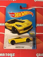 Corvette C7 Z06 #128 Yellow 2017 Hot Wheels Case F *New*