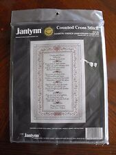 Janlynn Counted Cross Stitch Kit Country French Anniversary Sampler 1991 vtg